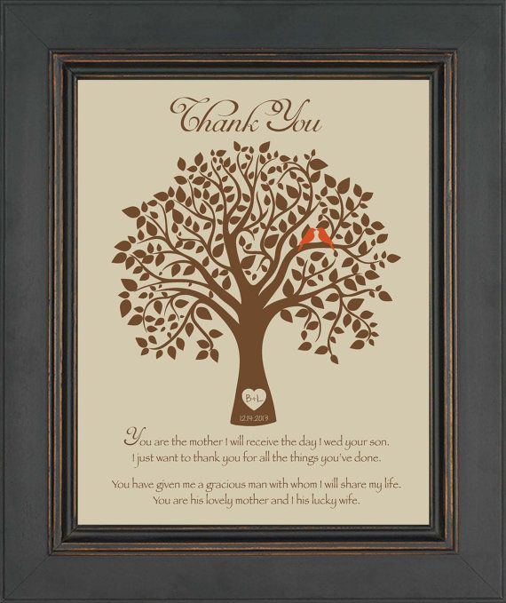 Wedding Gift Ideas For Mother In Law : Wedding Gift for Mother In LawThank you gift for future Mother-In ...