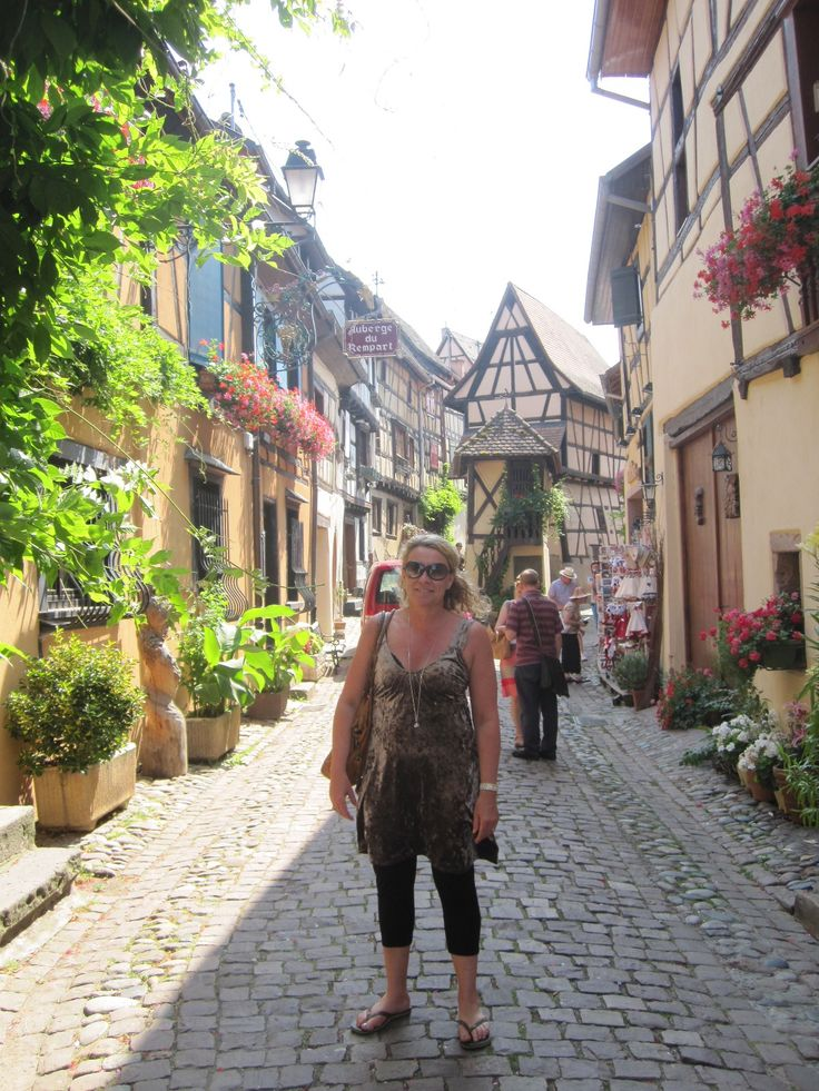 Eguisheim in Alsace, France was like being in fairy tail