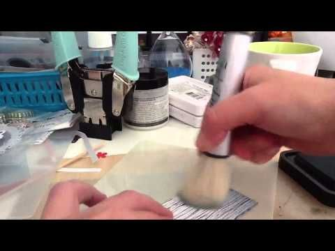 Demo of inkylicious ink duster and blending mat so cool - YouTube