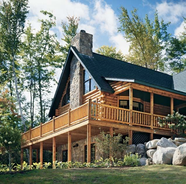 Front porch log home ideas pinterest front porches for Mountainside home designs
