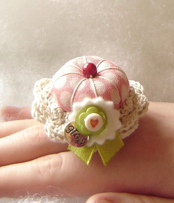 Grow Love Treasured Ring Pincushion by TheFinickyFrog on Etsy
