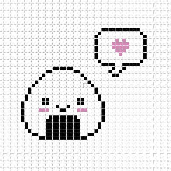Happy Onigiri Cross Stitch Pattern by passionfyre.deviantart.com on @deviantART kawaii cross stitch