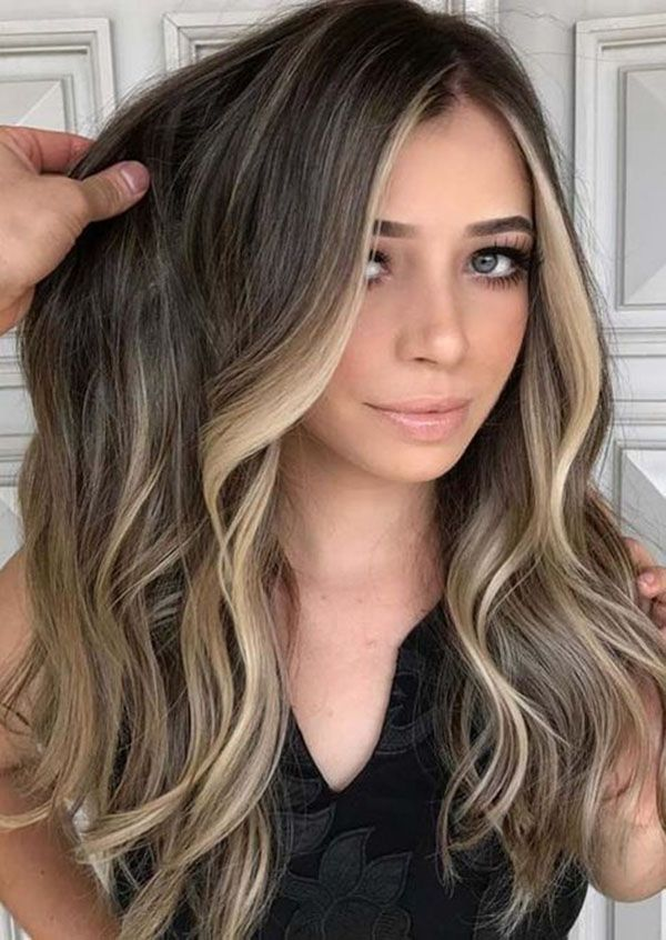 Blonde Hair With Color Underneath: Hair Colors Ideas & Trends For The Long Hairstyle Winter