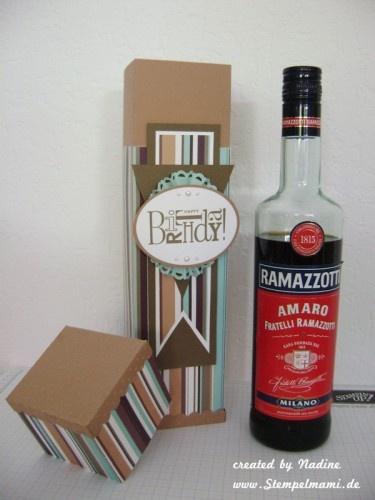 Flaschenverpackung Flaschenanhaenger Geburtstag Stampin Up