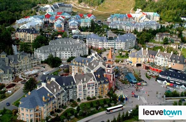 Aerial view of Mont Tremblant Village #Tremblant #Quebec