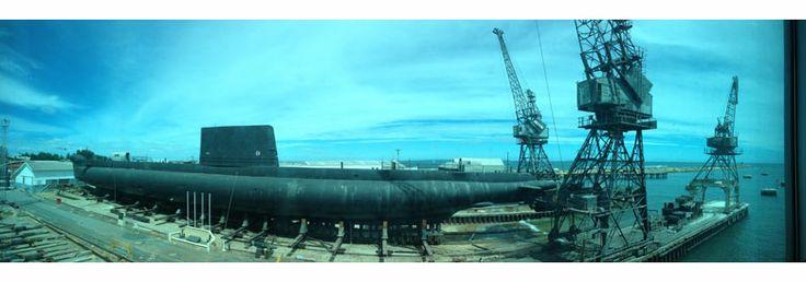HMAS 'Ovens' Submarine at Fremantle - WA Maritime Museum