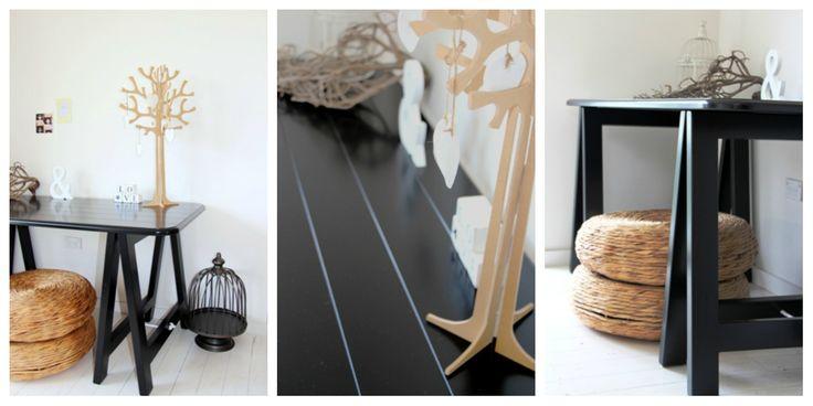 Black Beauty trestle table - www.plankandtrestle.com.au
