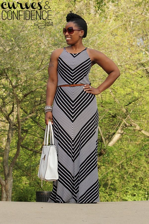 Curves and Confidence | A Miami Style Blogger: Vacation Wear: Chevron Maxi Dress