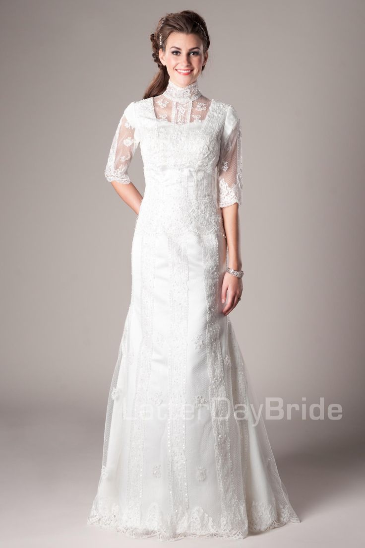 Great Modest Wedding Dresses Delphine Where was this dress years ago