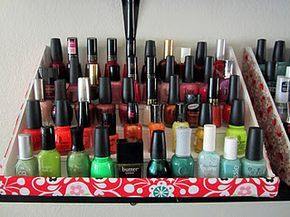 how to make your own nail polish rack! with foam board.