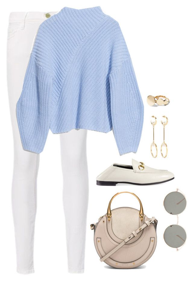 """Untitled #4751"" by magsmccray on Polyvore featuring Frame, Gucci, Chloé and Forever 21"