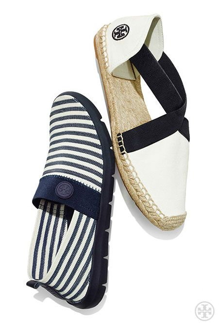 Casually chic + athletic-inspired: Tory Burch Micah Stripe Sneaker &  Catalina Canvas Espadrille