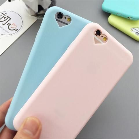 New Candy Colors Soft TPU Silicon Phone Cases for iphone 5S 6 6S Case Coque with Love Hole Accessories Cover for iPhone 5 SE