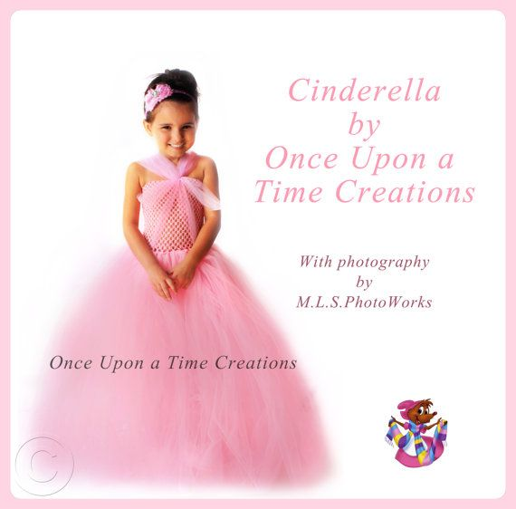 Pink Cinderella Inspired Princess Tutu Dress - Birthday Outfit, Halloween Costume - 12M 2T 3T 4T 5T 6 7 8 10 12 - Disney Cinderella Inspired...