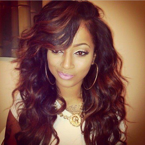 Sew In Hairstyle find this pin and more on urban hairstyles natural hair sew in weaves by forevera1 50 Sew In Hairstyles For Black Women