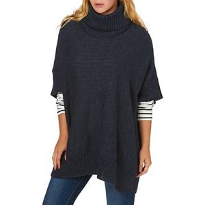 Joules Jumpers - Joules Oriell Knitted Poncho - Indigo Marl