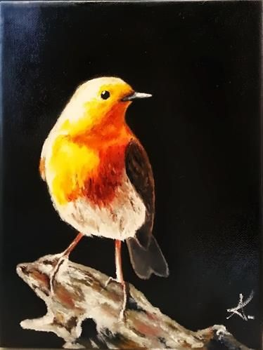 """Proud Bird"" - by Konstantia Karletsa.... ~Oil on canvas"