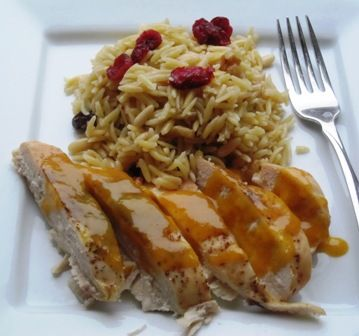 Chicken with Passion Fruit SauceChicken, Maracuya Chicken, Dry Fruit, Fruit Concentration, Con Salsa, Sauce, Fruit Sauces, De Maracuya, Nut Orzo
