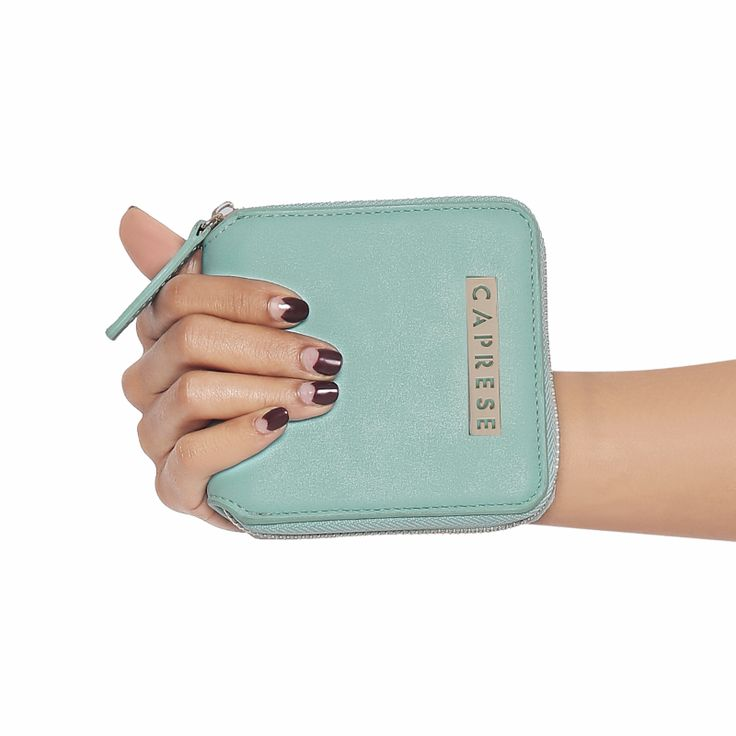 Small enough to fit in your cross-body bags, this wallet us truly perfect for on-the-go. Available in 3 more colors. Shop now on, https://acebazaar.in/product/caprese-perry-zip-around-wallet-small-aqua/