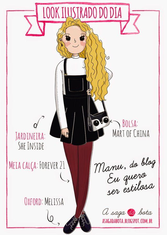 Outfit of the day illustration Manu - Blog Eu quero ser estilosa
