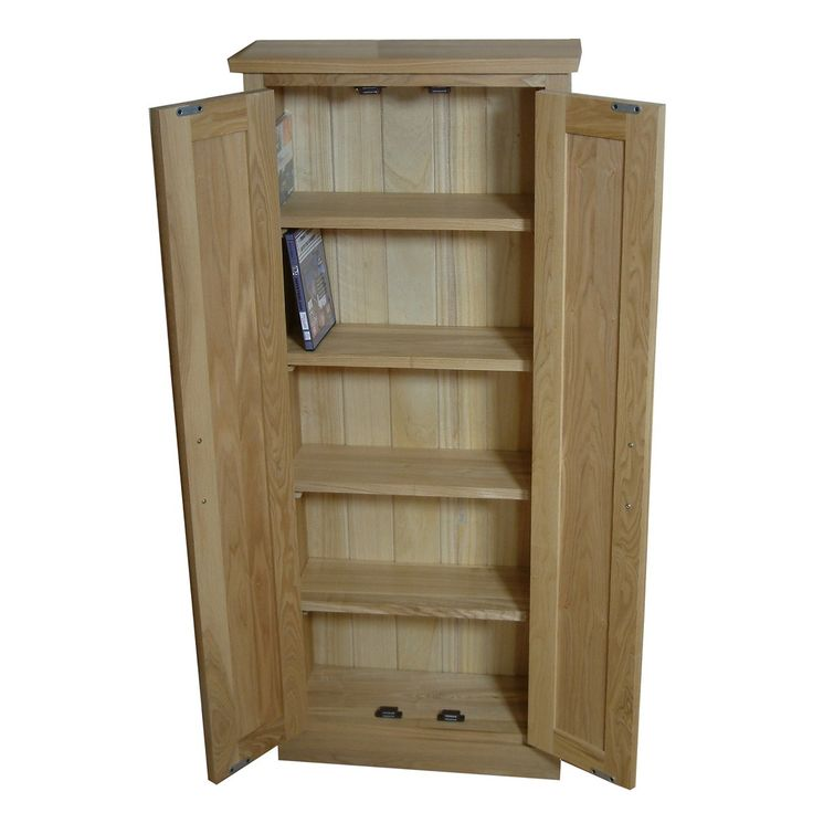 This Mobel Oak DVD Storage Cupboard Is A Smart Way To Keep Your DVDu0027s And  CDu0027s