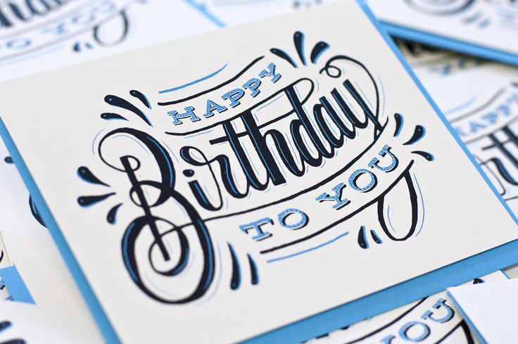Happy Birthday lettering by Ross Moody
