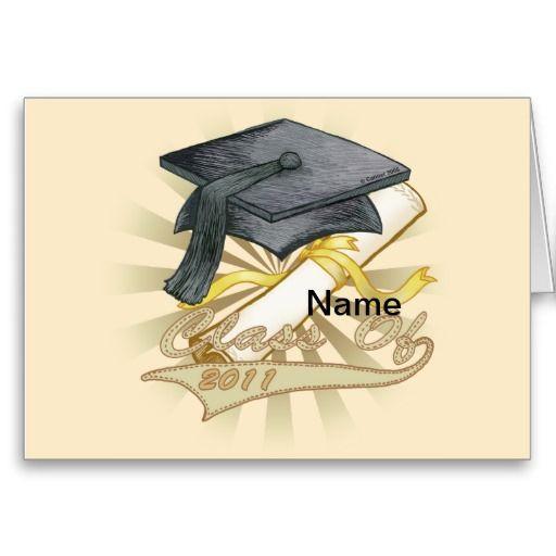 graduation name card templates