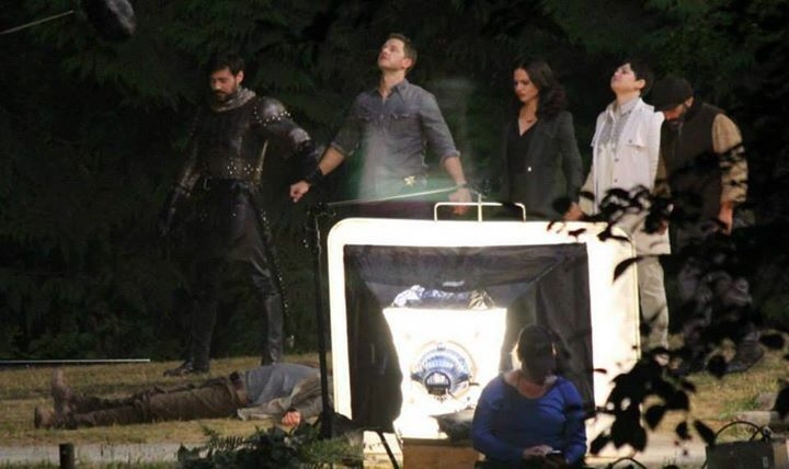 Awesome Sean Liam Garrigan Josh Lana Ginny Lee (Robin King Arthur Charming Regina Snow Leroy/Grumpy) #Once #BTS the awesome Once S5 E2 #The Price #Burnaby Central Park #Burnaby Vancouver BC Thursday 7-23-15