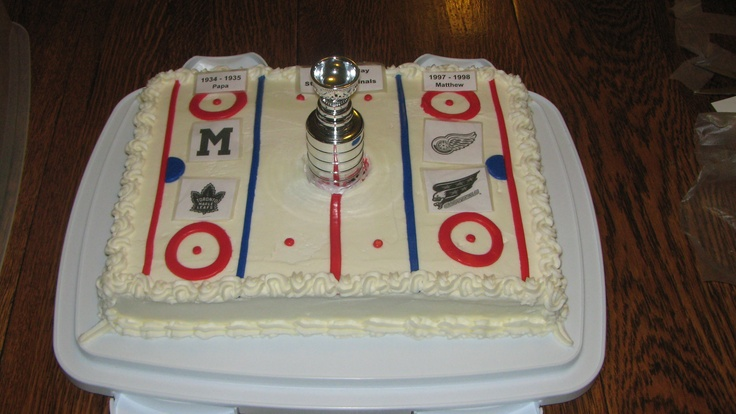 Hockey cake for the Birthday boys