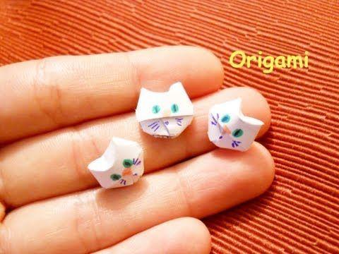 Origami Cat Tutorial - Halloween Crafts ♥︎ DIY ♥︎ - YouTube