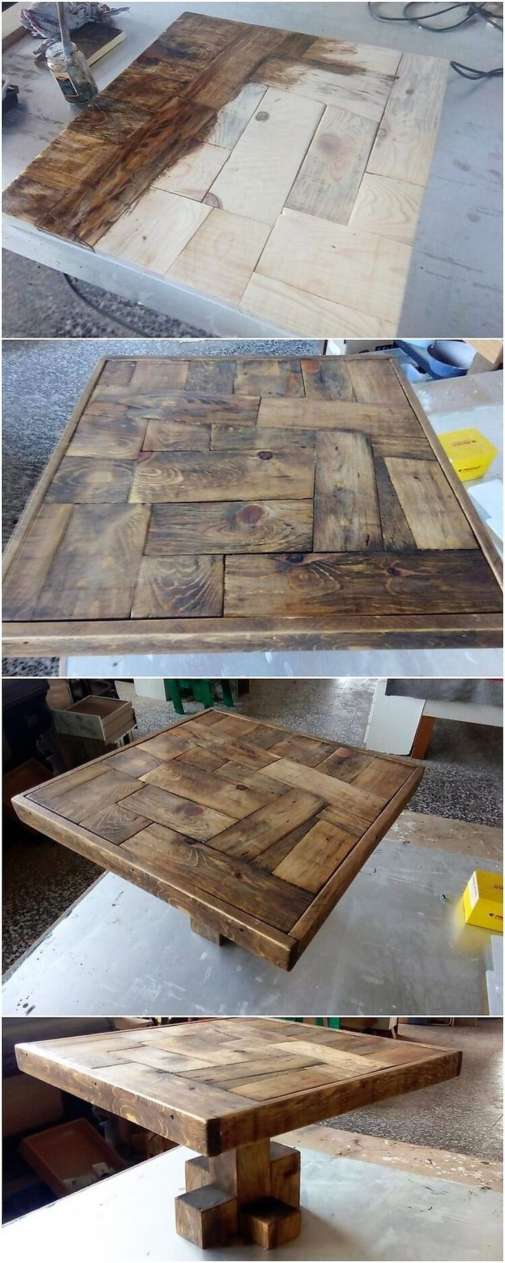 Much an elegant designing of the table is carried out with the wood pallet use. A perfect choice for the coffee serving arrangement! It is made overall attractive through the additional effect of the center textured impact of the designs being improvised in it.