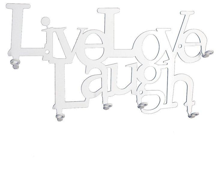 Live Love Laugh - Schlüsselbrett, Schlüsselleiste - 6 Haken