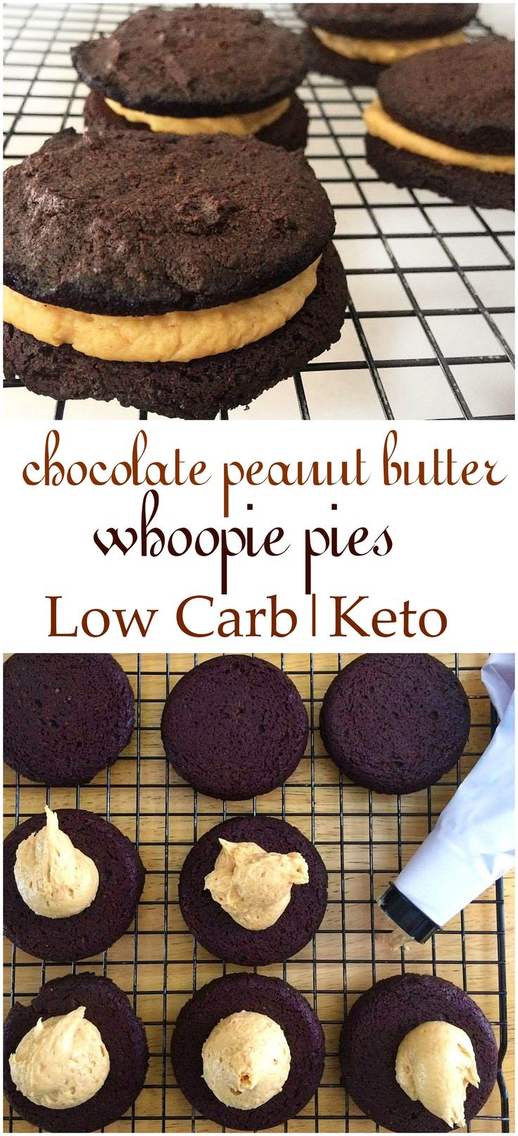 Having a cake craving? These low carb chocolate peanut butter whoopie pies are sure to cure that.....and guilt free. No artificial sweeteners.