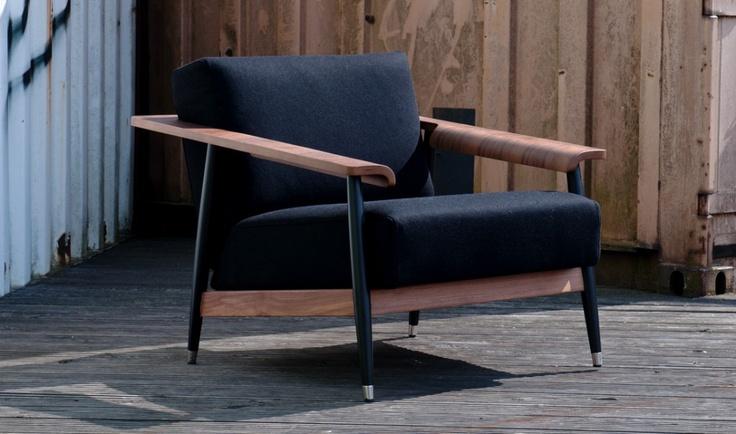 Dowel Black Armchair - Fashion for Home