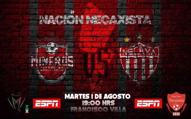 Mineros vs Necaxa en Vivo Online Copa MX 2017