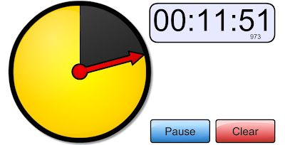 Online visual timer to use on interactive board... helps students w/time managment.