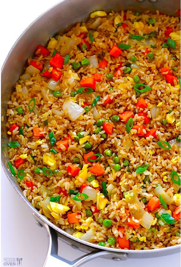 Homemade fried rice that's even better than takeout: | 17 Easy Dinners You Should Know How To Cook After College