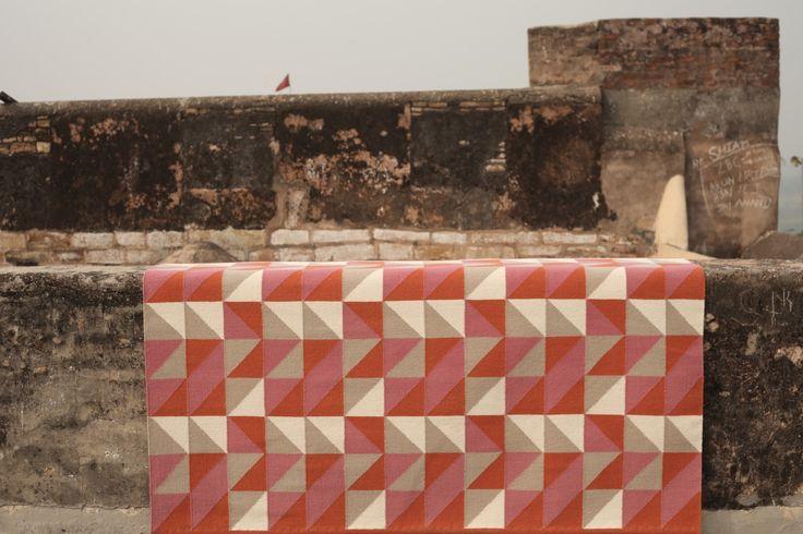 Armadillo Triangle rug - custom colour and size