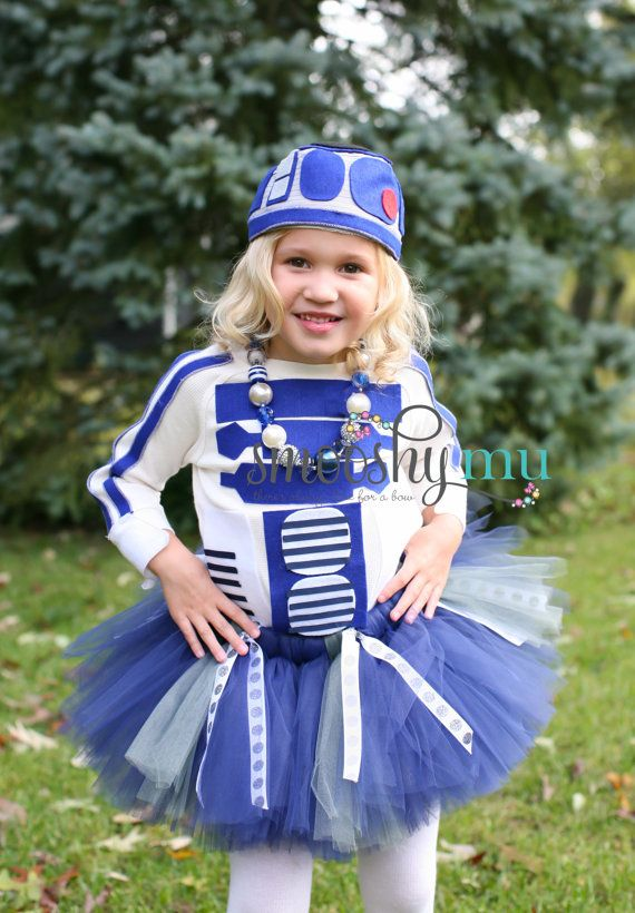 Smooshy Mu Girls Tutu R2D2 Costume Star Wars Theme Robot Costume Toddler Costume