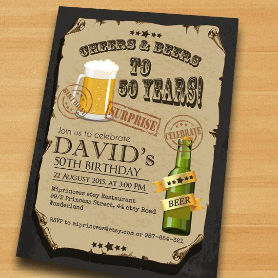 Cheers & Beers Birthday Invitation Beer birthday by miprincess