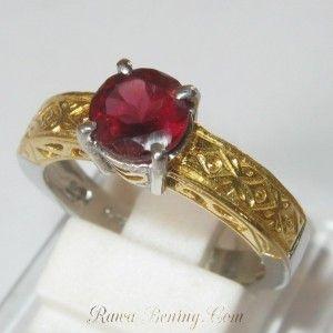 Cincin Pyrope Garnet Ring 6.5US