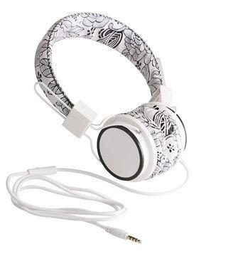 BLU TECK Cuffie pelle microfono jack 3,5 mm bianche nere