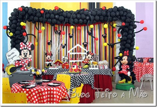 Festa Minnie Blog Feito a mão: Ideas For, Minnie Party, Da Minnie, For Parties, Of Tea, Party Ideas