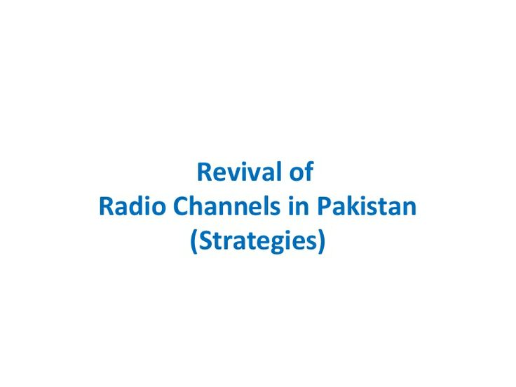 Revival of FM Radio Channels