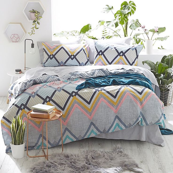 Summer vibes in the bedroom. Styled for Kmart.  Styled by: Jess Barnes