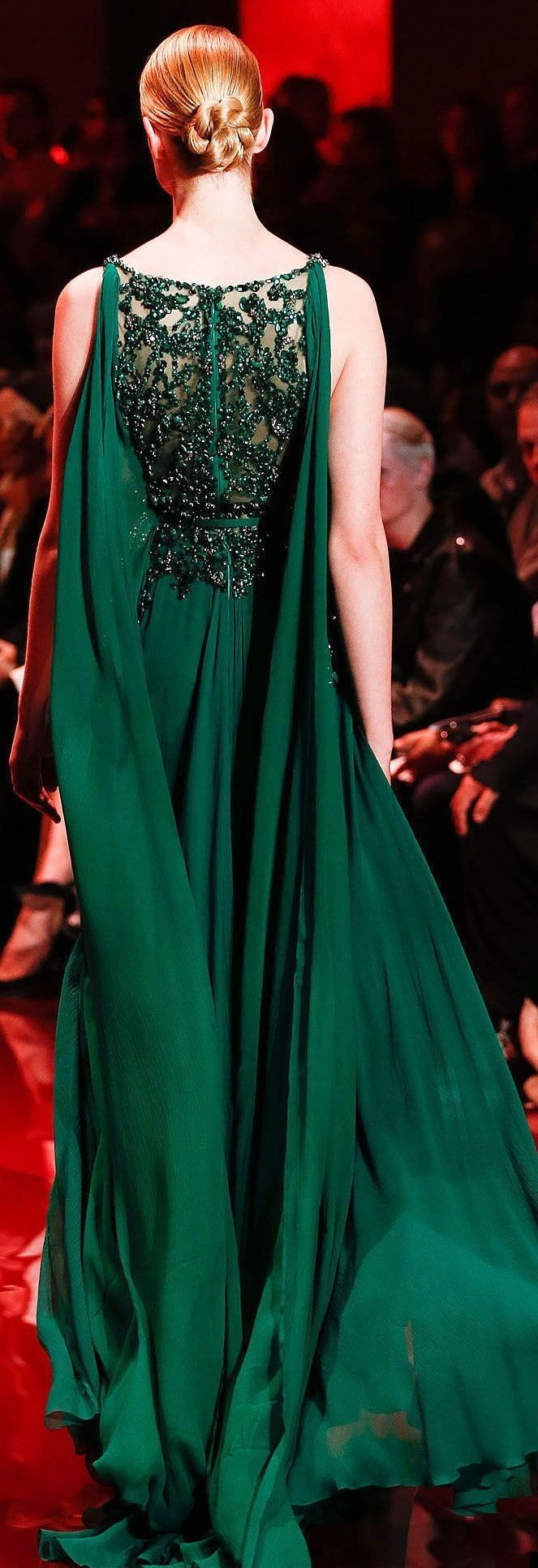 Elie Saab | Dresses, Emerald green dresses, Fashion