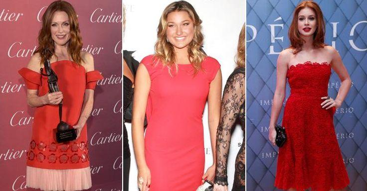 Famosas, como Julianne Moore, investem em vestidos vermelhos para festas. Veja 30 opções!