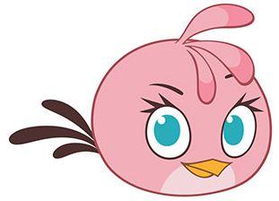 Стелла (англ. Stella) — Цвет розовый, животик более светлого оттенка. Форма почти круглая. Лицо: Брови тонкие и короткие, чёрного цвета. Глаза голубого цвета, располагаются далеко друг от друга, ресницы чёрного цвета. Клюв оранжевого цвета, очень маленький и короткий. Макушка -  двухцветный хохолок из трех пёрышек розового цвета с тёмными концами.Хвост из трех длинных тонких пёрышек чёрного цвета. она заботливая, естественный посредник.