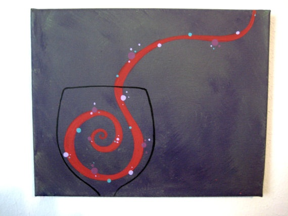 wine painting #abstract #art