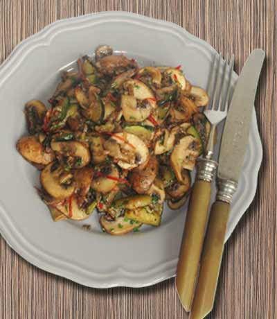 Champignon-Zucchini Pfanne